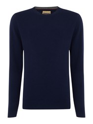 Howick Men's Cashmere Crew Neck With Gift Box Navy