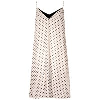 Eros And Agape Dot Print Slip Dress Minami Black Gold Neutrals