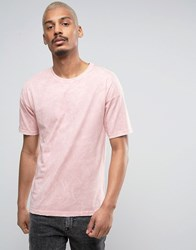 Black Kaviar Oversized T Shirt In Pink Acid Wash Pink