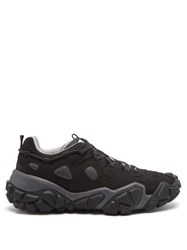 Acne Studios Bolzter Suede And Mesh Trainers Grey Multi