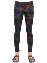 Givenchy Cotton Jersey Ankle Zip Leggings Orange