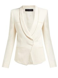 Haider Ackermann Single Breasted Crepe Blazer Cream