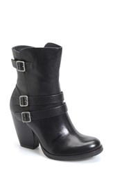 Women's Kork Ease 'Anki' Moto Boot Black Leather