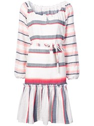 Lemlem Striped Belted Dress Grey