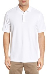 Nordstrom Men's Big And Tall Men's Shop 'Classic' Regular Fit Pique Polo White