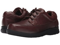 Nunn Bush Cam Oxford Casual Walking Shoe Brown Tumbled Leather Lace Up Casual Shoes