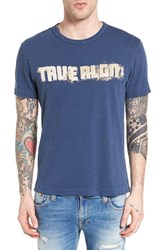 True Religion Men's Brand Jeans Football Stitch Graphic T Shirt