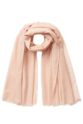 Closed Wool Silk Scarf Rose