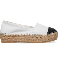 Kg By Kurt Geiger Mellow Leather Espadrilles White Blk