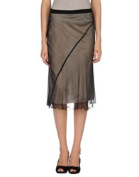 D.Exterior Knee Length Skirts Sand
