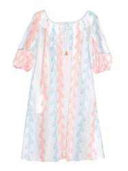 Thierry Colson Eva Feather Print Cotton Dress
