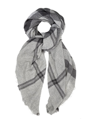 Tomas Maier Plaid Cashmere Travel Scarf