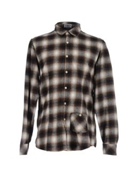 Novemb3r Long Sleeve Shirts Dark Brown