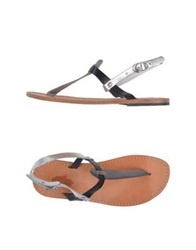 Local Apparel Thong Sandals Grey