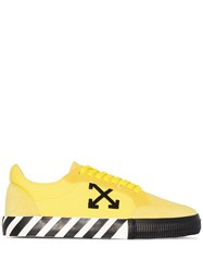 Off White Vulcanized Low Top Sneakers Yellow
