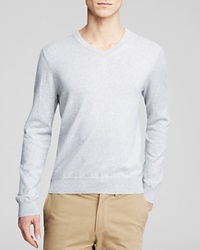 The Men's Store At Bloomingdale's Cotton Cashmere V Neck Sweater Light Heather Grey