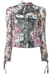 Olympia Le Tan Liberty Print Blouse