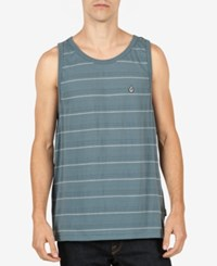 Volcom Men's Wowzer Cotton Stripe Tank Ash Blue