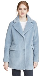 Soia And Kyo Amelot Coat Cerulean