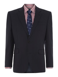 New And Lingwood Arthur Stripe Panama Suit Jacket Navy