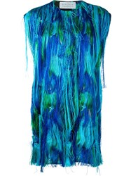 Gianluca Capannolo Fringed Oversized Vest Blue