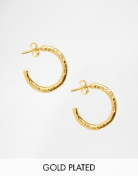 Ottoman Hands Gold Plated Hoop Earrings Gold