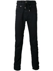 Diesel Black Gold High Waist Drawstring Skinny Jeans Men Cotton Polyester Spandex Elastane 31 Blue