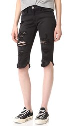 Etienne Marcel Destroyed Bermuda Shorts Black