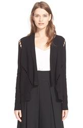 Milly Bar Inset Open Jacket Black