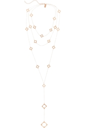 Arme De L'amour Rose Gold Plated Multi Chain Necklace