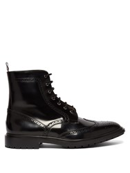 Thom Browne Wingtip Leather Boots Black