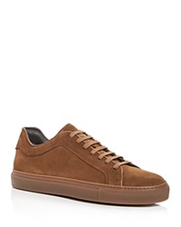 To Boot New York Men's Marshall Suede Lace Up Sneakers Cinnamon Brown