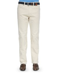 Peter Millar Stretch Five Pocket Khaki Pants Beige