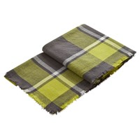 Joules Check Heyford Soft Oversized Scarf Olive