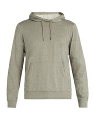Ralph Lauren Purple Label Logo Embroidered Hooded Cotton Sweatshirt Grey