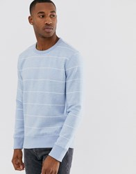 French Connection Striped Crew Neck Sweatshirt Blue