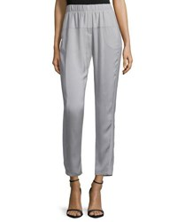 Halston Tapered Leg Cropped Pants Mist