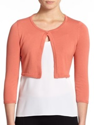 Peserico Cropped Cotton Cardigan Coral