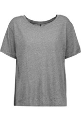 Enza Costa Stretch Jersey T Shirt Anthracite