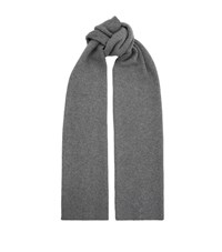 Helmut Lang Cashmere Ribbed Scarf Unisex