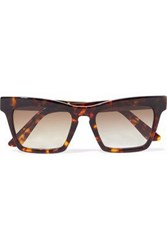 Ellery Cremaster Square Frame Tortoiseshell Acetate And Gold Tone Sunglasses Brown