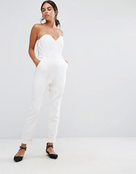 Vero Moda Cindy Bandeau Jumpsuit Snow White