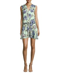 Alice Olivia Brook Oasis Floral Mint Dress Multi Colors