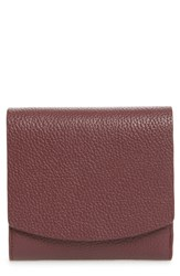 0cb8f67f907 Nordstrom Olivia Leather Trifold Wallet Burgundy Burgundy London