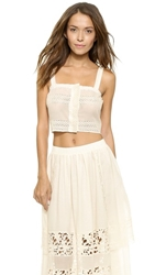 Nightcap Clothing Prairie Crop Top Natural