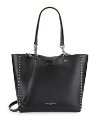Karl Lagerfeld Studded Faux Leather Tote Black Steel