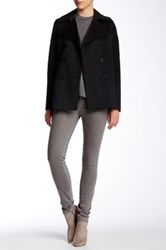 Vince Double Face Wool Blend Peacoat Gray