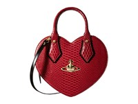 Vivienne Westwood Frilly Snake Heart Bordeaux Satchel Handbags Burgundy