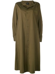 Y's Loose Fit Coat Women Cotton 1 Green
