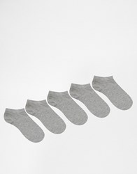 Asos 5 Pack Trainer Socks Grey Grey